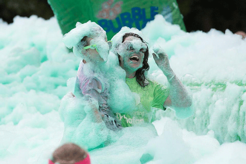 EACH Charity Bubble Rush Event