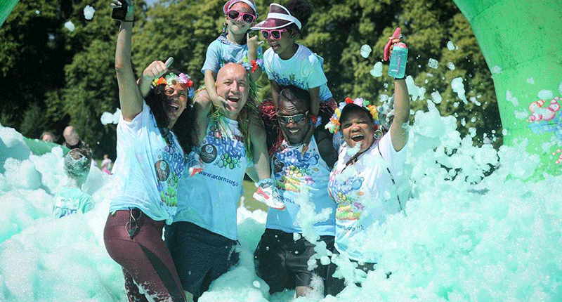EACH Charity Fundraising Bubble Rush Norwich