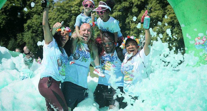 EACH Charity Fundraising Bubble Rush Norwich
