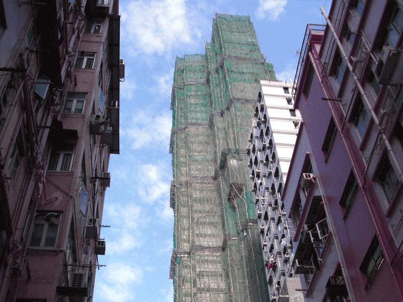 Bamboo Scaffolding used in Asia